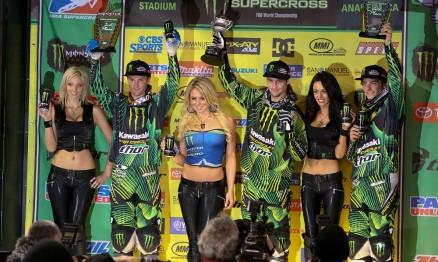 O pódio da SX Lites em Anaheim foi dominado pela equipe Pro Circuit
