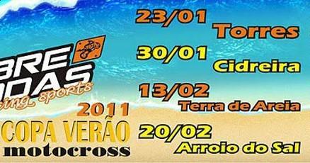 Cartaz de divulgação da Copa Verão de Motocross 2011
