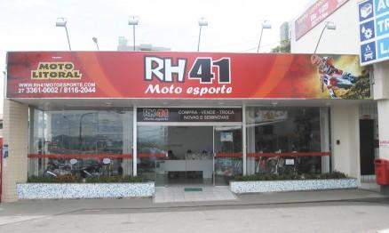 Fachada da loja do piloto Roger Hoffmann em Guarapari