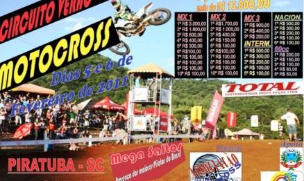Cartaz de divulgação do Circuito Verão de Motocross