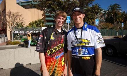 Ian Trettel e Kyle Chisholm no dia do lançamento do AMA SX 2011