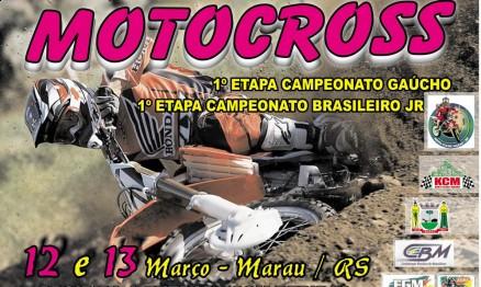 Cartaz de divulgação do Gaúcho de Motocross em Marau