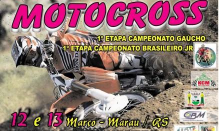 Cartaz de divulgação do Gaúcho e do Brasileiro de MX Júnior