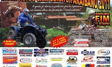 Cartaz de divulgação do Paraibano de Enduro FIM 2011