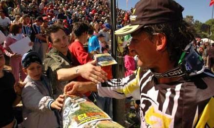Chumbinho Becker é um dos ídolos do público do MX Brasileiro