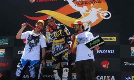 Pódio da Copa Brasil de Freestyle Motocross 2011
