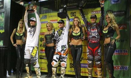 Reed, Villopoto e Dungey no pódio da categoria Supercross em Atlanta