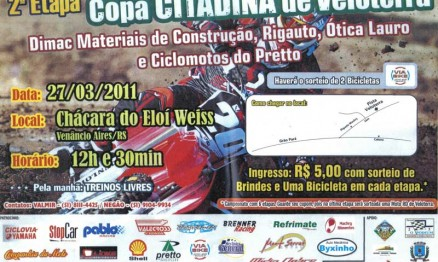 Cartaz de divulgação da Copa Citadina de Velocross em Venâncio Aires
