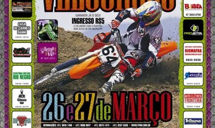Cartaz de divulgação do Brasileiro de Velocross em Rio Negro
