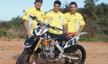 André Ramalho, Roger e Lauro Hoffmann da equipe Holeshot Racing
