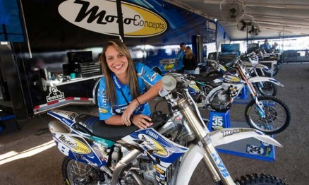 Em 2010 Mari Balbi correu pela equipe MotoConcepts no WMX