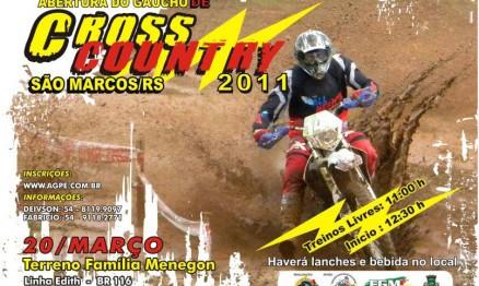 Cartaz de divulgação Gaúcho de Cross Country em São Marcos