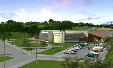 Imagem do prédio principal do futuro CETH em Manaus