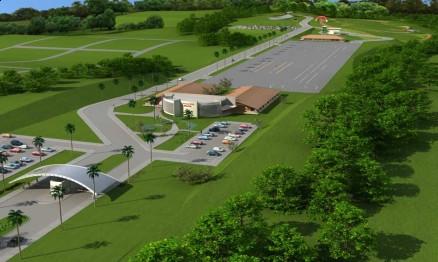 Vista aérea do futuro Centro de Treinamento da Honda em Manaus