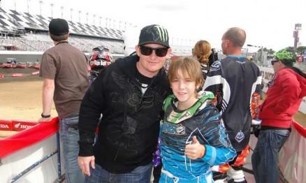 Ricky Carmichael e Enzo Lopes no último mês de março em Daytona