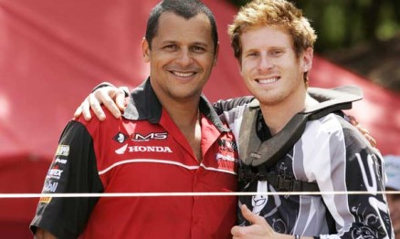 Wellington Valadares, chefe da IMS Racing e o piloto Adam Chatfield