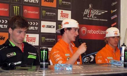 Tommy, Jeffrey e Ken na coletiva de imprensa após a etapa da Holanda