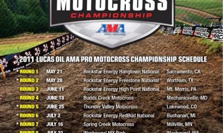 Inscritos para o AMA Motocross em Hangtown