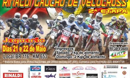 Cartaz de divulgação do Gaúcho de Velocross em Jaguarão