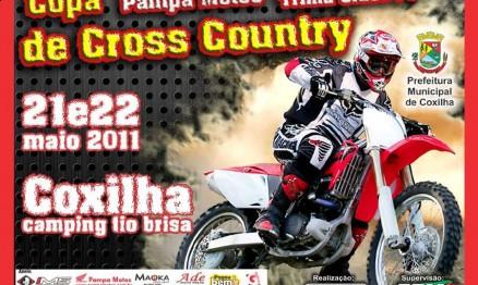 Cartaz de divulgação da Copa Pampa Motos de XC em Coxilha