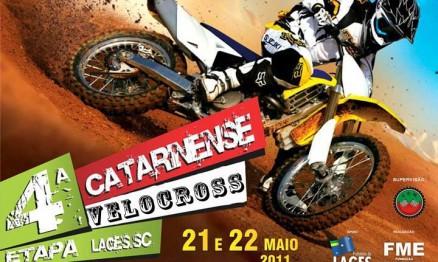 Cartaz de divulgação do Catarinense de Velocross em Lages
