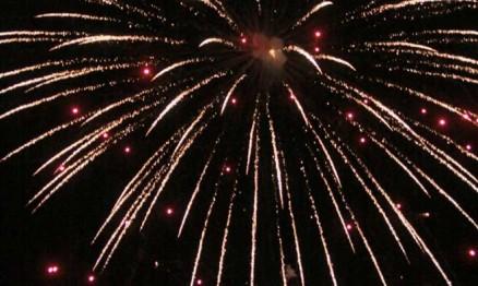 Fogos de artifício anunciaram a abertura oficial do evento