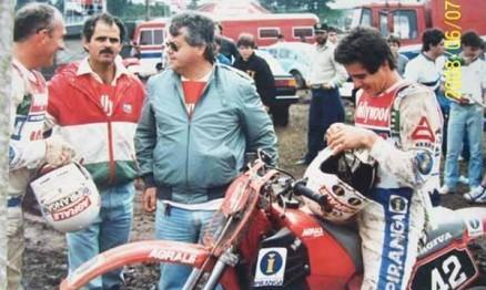 Nivanor, Claudio Campos, meu pai e eu em Gramado