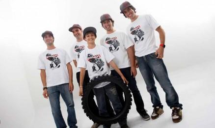 Pipo, Duda, Ratinho, Dudu e Kioman são patrocinados pela Rinaldi
