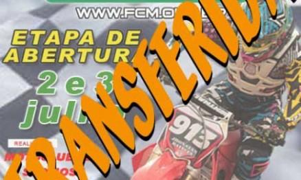 Detalhe no cartaz anuncia a transferência da etapa de São José