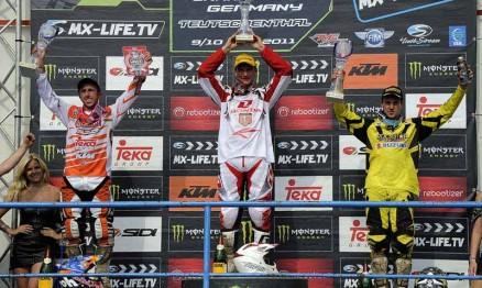 Pódio da categoria MX1 no GP da Alemanha