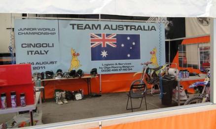 Box dos pilotos da Austrália
