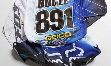 Roupa que Justin Bogle irá usar na equipe Geico / Honda