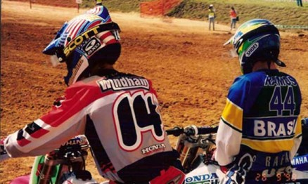 Kevin Windham e Rafael Ramos no gate em Indaiatuba em 1999