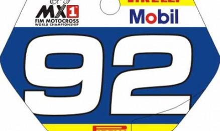 Number plate de Enzo para o Mundial de MX Júnior 2011