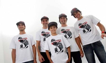 Pipo, Duda, Kioman, Ratinho e Dudu são patrocinados pela Rinaldi