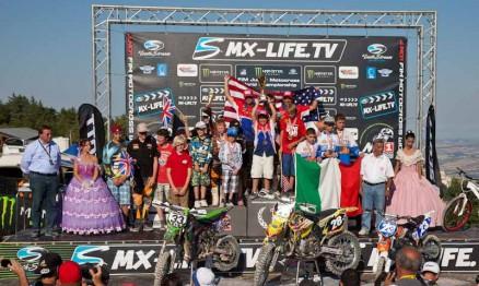 Pódio do Mundial de Motocross Júnior por países
