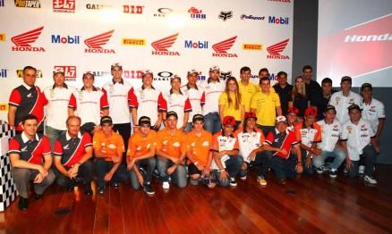 Pilotos oficiais e satélites da Honda Brasil para 2012