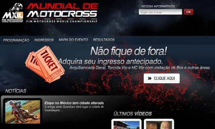 Estão a venda os ingressos para o GP Brasil de Motocross