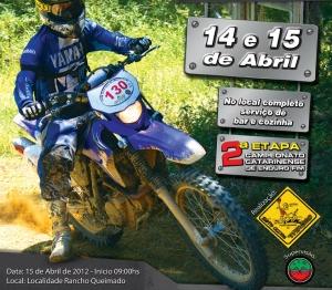 Pouso Redondo realiza etapa do Catarinense de Enduro