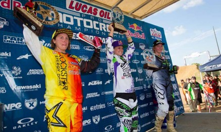Pódio da categoria WMX em Freestone