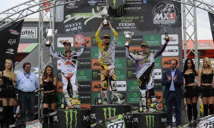 Pódio da categoria MX1 no GP da Itália
