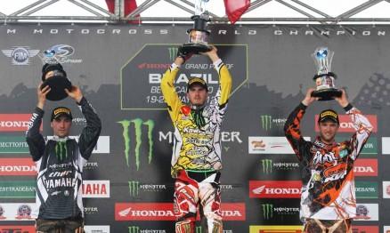 Pódio da categoria MX1 no GP Brasil de Motocross