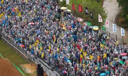 Mesmo com a chuva o público prestigiou o Mundial
