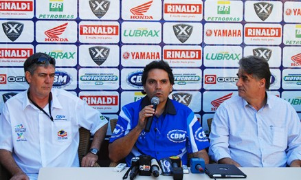 Nelson Campos, Firmo Alves e o prefeito Clomir Bedin
