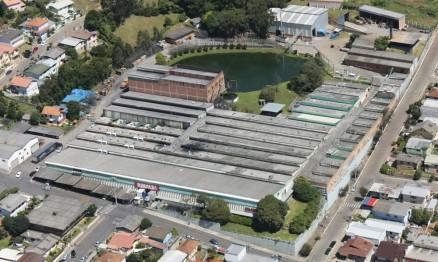 Vista aérea da fábrica da Rinaldi em Bento Gonçalves
