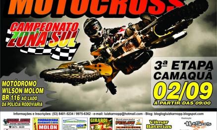 Vem aí o Zona Sul de Motocross Amador em Camaquã