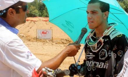 Higor Passos sendo entrevistado