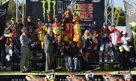 Pódio do Motocross das Nações 2012