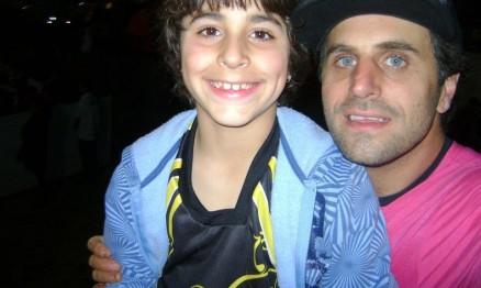 Gabriel e seu pai Fred Andrigo