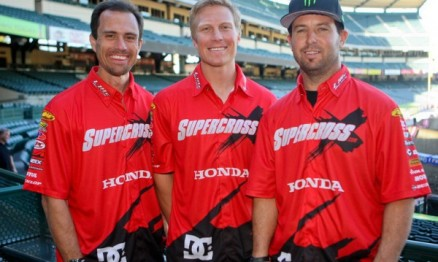 Larry Brooks, Andrew Short e Jeremy Mcgrath